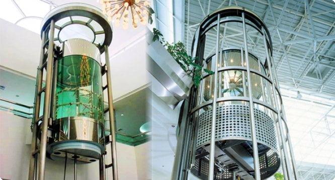 استفاده از شیشه درآسانسور