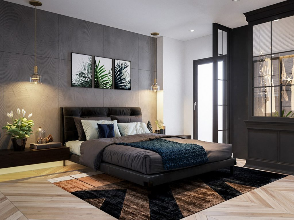 شیشه رنگی اتاق خواب؛ انواع طرح و فواید آن