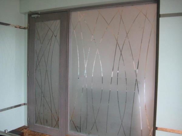 شیشه طرح سنگ